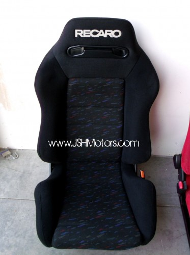 Black Recaro Confetti Seat on Honda Civic