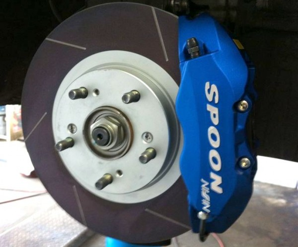 Spoon Sports Twin-Block Front Brake Caliper Set.