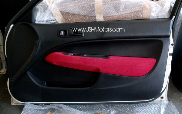 jdm ek civic type  red door panels