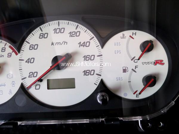 jdm ep civic type  gauge cluster