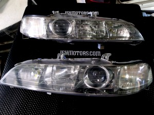 JDM GSR Chrome Housing Headlights