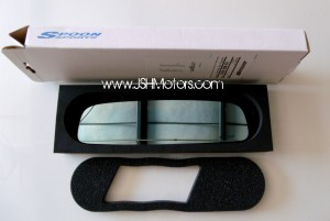 Spoon Sports Blue Wide Rear View Mirror