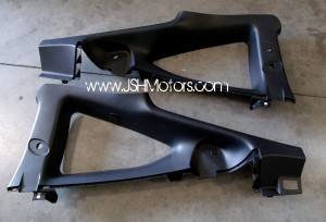 JDM Dc5 Integra Black Quarter Panel Glass Trim