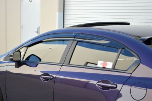 2012-2015 Honda Civic 4 Door Side Visors