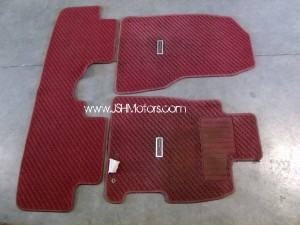 JDM Civic Ep3 Type R Right Hand Drive Red Floor Mat Set