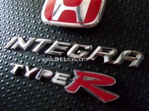 JDM Dc5 Rear Red H Type R Integra Emblems