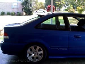 Civic Roofvisorek on 92 Acura Integra 4 Door