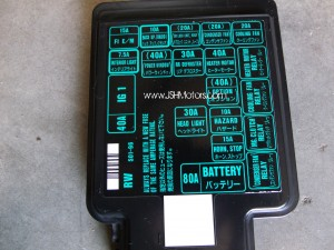 1996 honda civic fuse box cover